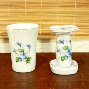 Vintage Porcelain Bath Set